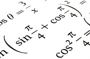 Equation Photos - Algebra formulas close up. by Fernando Barozza