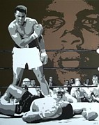 Knockout Paintings - Ali by Dan Carman