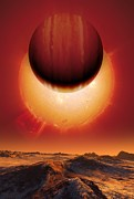 Planetary Science Photos - Alien Planetary System, Artwork by Detlev Van Ravenswaay