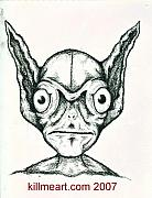 Extraterrestrial Drawings - Alien Sketch by William Burns