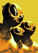 Paranormal  Digital Art - Aliens, Artwork by Victor Habbick Visions