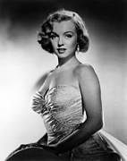 1950 Movies Photo Metal Prints - All About Eve, Marilyn Monroe, 1950 Metal Print by Everett