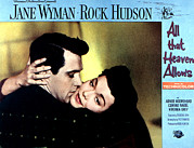 1955 Movies Photo Framed Prints - All That Heaven Allows, Rock Hudson Framed Print by Everett