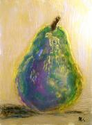 Food And Beverage Sculpture Metal Prints - Almost Pear Metal Print by Rochelle Carr