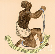 Slavery Prints - Am I Not A Man And A Brother Print by Photo Researchers