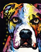 Dogs Mixed Media - American Bulldog by Dean Russo