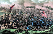 Trench Warfare Prints - American Civil War, Battle Print by Photo Researchers