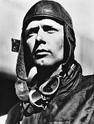 1920s Portraits Art - American Pilot Charles Lindbergh by Everett
