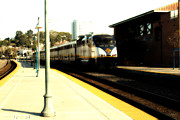 Train Stations Photos - Amtrak Train At The Martinez California Train Station . 7D10495 by Wingsdomain Art and Photography