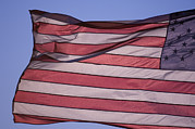 Rapid City Metal Prints - An American Flag At Sunrise Metal Print by Joel Sartore