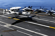 Flight Deck Posters - An E-2c Hawkeye Lands Aboard Poster by Stocktrek Images