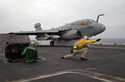 Prowler Photos - An Ea-6b Prowler Launches by Stocktrek Images