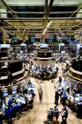 Stock Exchange Photos - An High Angle View Of The New York by Justin Guariglia