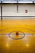 Basketball Court Prints - An Indoor Sports Venue. Basketball Print by Christian Scully