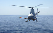 Front View Art - An Mq-8b Fire Scout Unmanned Aerial by Stocktrek Images