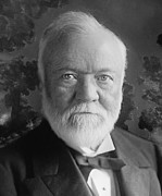 Philanthropists Framed Prints - Andrew Carnegie 1835-1919 Framed Print by Everett
