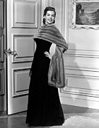 Fur Stole Prints - Ann Miller, Portrait Print by Everett