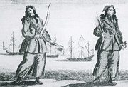 Piracy Framed Prints - Anne Bonny And Mary Read, 18th Century Framed Print by Photo Researchers