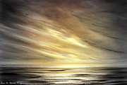 Sunset Prints Mixed Media Posters - Another Golden Sunset Poster by Gina De Gorna