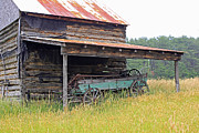 Log Cabin Art Photo Metal Prints - Another Time Metal Print by Suzanne Gaff