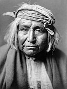 Native American Portrait Framed Prints - APACHE MAN, c1906 Framed Print by Granger