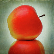 Close-up Digital Art Framed Prints - Apples Framed Print by Bernard Jaubert