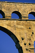 Photos Of France Posters - Aqueduc du Pont du Gard.Provence Poster by Bernard Jaubert