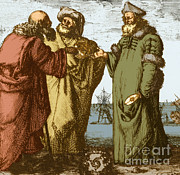Copernicus Photo Prints - Aristotle, Ptolemy And Copernicus Print by Science Source
