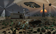 Discovery Digital Art - Artists Concept Of A Science Fiction by Mark Stevenson