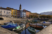 Fishing Village Framed Prints - Ascona - Lake Maggiore Framed Print by Joana Kruse