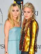 Gold Jacket Posters - Ashley Olsen Wearing The Row, Mary-kate Poster by Everett