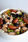 Bowls Framed Prints - Assortment Of Beans And Lentils Framed Print by Photo Researchers, Inc.
