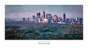 Atlanta Skyline Art - Atlanta Skyline  by Doug Sturgess