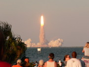 Cape Canaveral Prints - Atlantis Shuttle Launch Print by David Bearden
