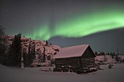 Log Cabin Photos - Aurora Borealis Over A Cabin, Northwest by Jiri Hermann