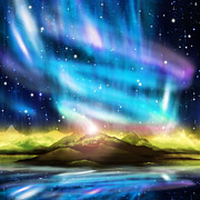 Phenomenon Digital Art - Aurora Borealis  by Setsiri Silapasuwanchai