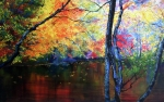 Pointillism Art - Autumns silent tapestry by Jennifer  Blenkinsopp
