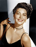 Pearl Earrings Posters - Ava Gardner, Ca. 1950s Poster by Everett