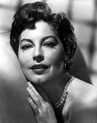 Diamond Earrings Posters - Ava Gardner Poster by Everett