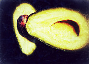 Avocado Digital Art Posters - Avocado Poster by Olivier Calas
