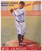 Ruth Photo Posters - Babe Ruth (1895-1948) Poster by Granger