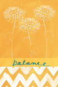Orange Prints - Balance Print by Linda Woods