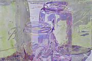 Mason Jars Painting Framed Prints - Ball Jar Collection Framed Print by Michael Brothers