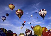 Balloon Fiesta Framed Prints - Balloon Fiesta Framed Print by Angel  Tarantella