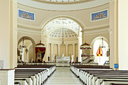 Cathedral Of The Assumption Prints - Baltimore Basilica Print by John Greim