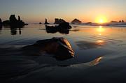 Bandon Beach Sunset Print by Bob Christopher