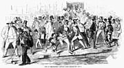 Bank Panic Framed Prints - Bank Panic Of 1857 Framed Print by Granger
