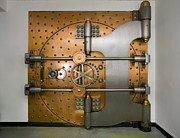 Enterprise Framed Prints - Bank Vault Door Exterior Framed Print by Adam Crowley