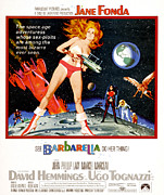 1960s Poster Art Posters - Barbarella, Jane Fonda, 1968 Poster by Everett