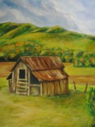 East Tennessee Paintings - Barn in East Tennessee by Joseph Baker